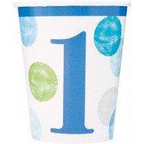 Blue 1st Birthday Cups