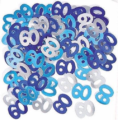 Blue Glitz Age 60 Confetti