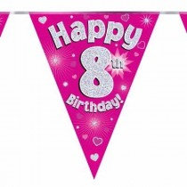 Pink Age 8 Bunting