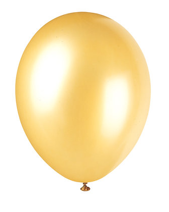 "Gold 11"" Latex Balloons"