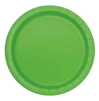 "Lime Green 9"" Paper Plates"