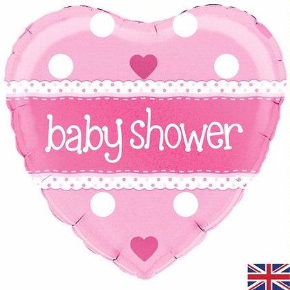 Pink Heart Baby Shower Foil Balloon