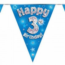 Blue Age 3 Bunting