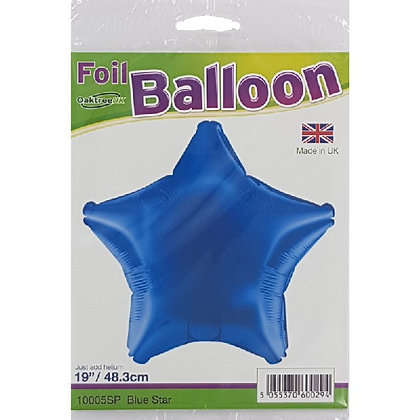 Blue Foil Star Balloon