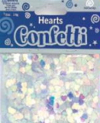 Irridescent Hearts Confetti