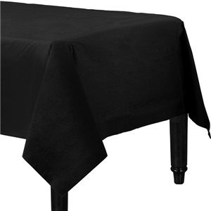 Black Plastic-Lined Paper Tablecover
