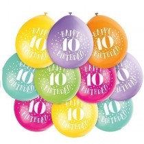 Air Fill Age 10 Latex Balloons