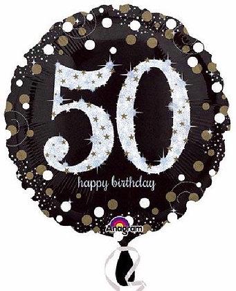 Gold Sparkle Age 50 Foil Balloon