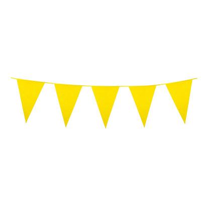 Yellow Plastic Bunting