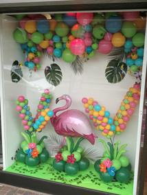 Flamingo Window Display