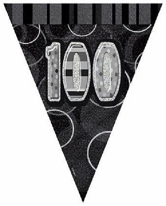 Black Glitz Age 100 Bunting