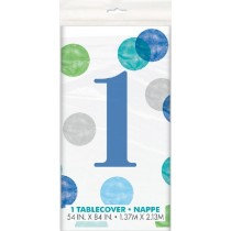 Blue 1st Birthday Table cover