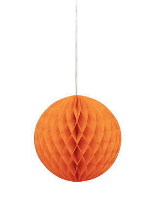 "Orange 8"" Paper Honeycomb Ball"