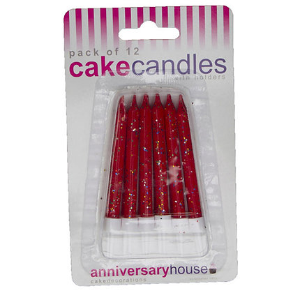 Red Glitter Candles