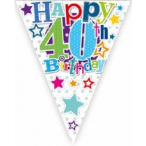 Happy 40th Birthday Bunting