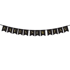 Happy New Year Paper Letter Banner