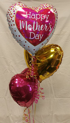 "Mothers Day ""Glittering Confetti"" Foil Balloon Bouquet"