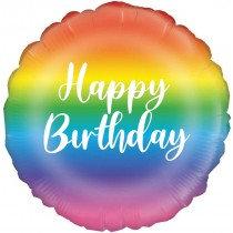 Rainbow Happy Birthday Std Foil Balloon