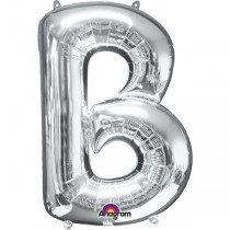Super Shape Silver Letter B
