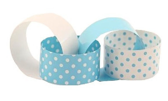 Blue And White Spot Paper Chains