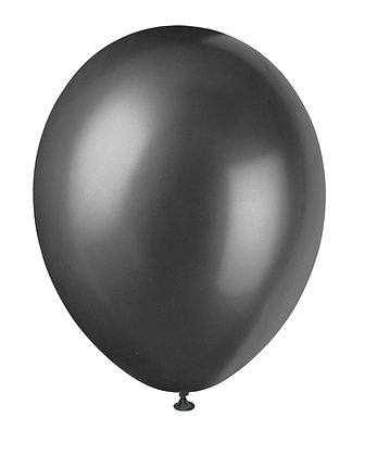 "Black 11"" Latex Balloons"