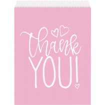 Pink Baby Shower Thankyou Treat Bags