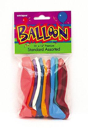 "Multi Coloured 11"" Latex Balloons"