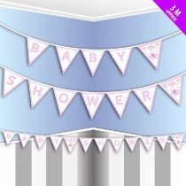 Pink Baby Shower Bunting