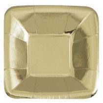 Gold Metallic Snack Trays