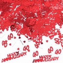 Ruby Anniversary Confetti