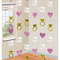Hearts and Rings String Decoration