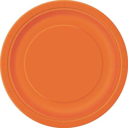 """Orange 9"""" Paper Plates"""
