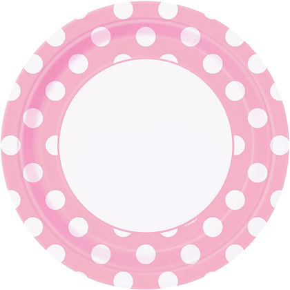 "Pink Dotty 9"" Paper Plates"