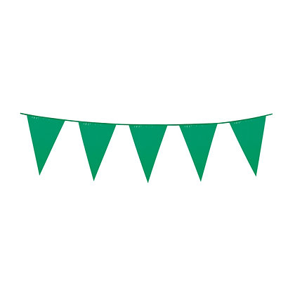 Emerald Green Plastic Bunting
