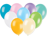 "Multi Coloured Pastel 11"" Latex Balloons"