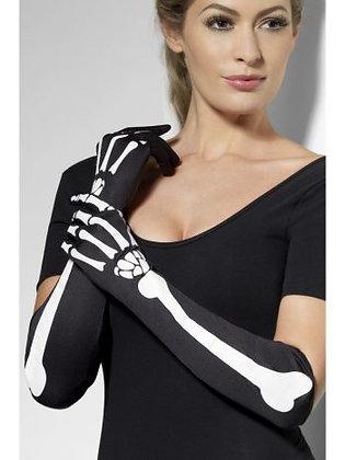 Adult Long Skeleton Gloves