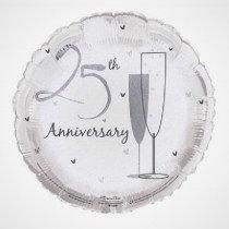 Silver Anniversary Foil Balloon
