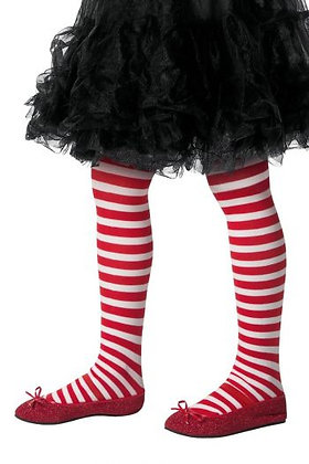 Kids Candy Cane Striped Tights