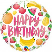 Birthday Fruits Happy Birthday Std Foil Balloon