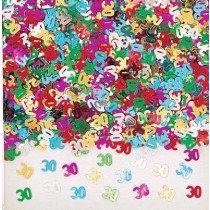 Multi-Colour Age 30 Confetti