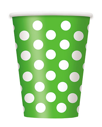 Lime Green Dotty Cups