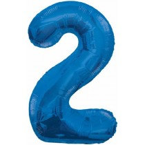 Blue Giant Number 2 Foil Balloon