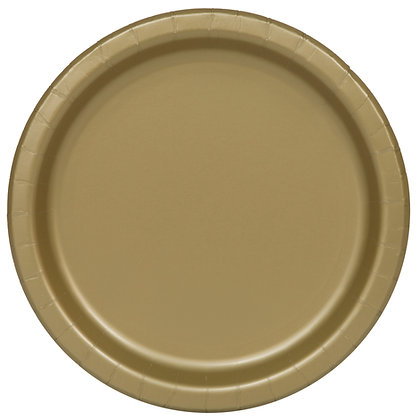 """Gold 9"""" Paper Plates"""
