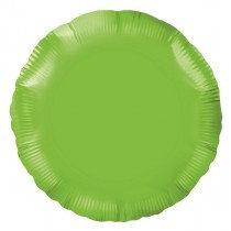 Lime Green Round Foil Balloon
