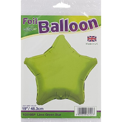 Lime Green Foil Star Balloon