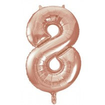 Rose Gold Giant Number 8 Foil Balloon