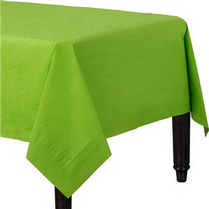 Lime Green Plastic-Lined Paper Tablecover