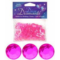 Magenta Diamante Confetti Large