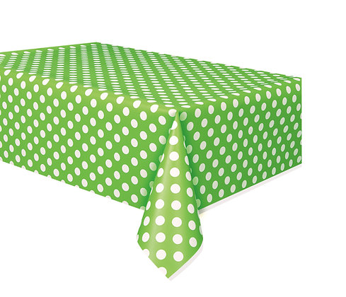 Lime Green Dotty Tablecover