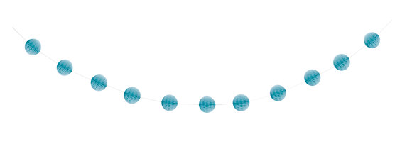 Baby Blue 7ft Honeycomb Ball Garland